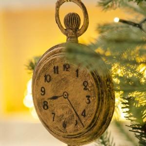 Στολίδια Ρολόι και κλειδί από την Αλίκη στη Χώρα τον θαυμάτων σετ των δύο σε χρυσή απόχρωση