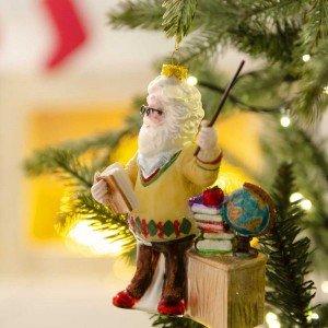 Άγιος Βασίλης Δάσκαλος Χριστουγεννιάτικο κρεμαστό στολίδι 13 εκ