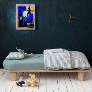 Χειροποίητη Πασχαλινή λαμπάδα Peter Pan με φωτιζόμενο κάδρο 22x6x29 εκ
