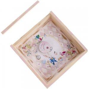 Αλίκη Η πρώτη μου λαμπάδα σε κουτί χειροποίητο με plexiglass 22x4x22 εκ