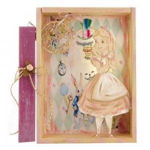 Χειροποίητη Πασχαλινή λαμπάδα Alice με φωτιζόμενο κάδρο 22x6x29 εκ