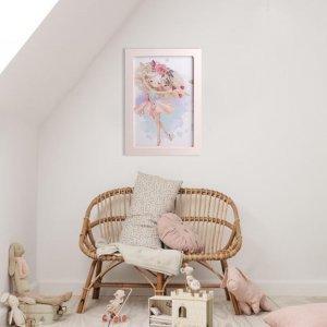 Μπαλαρίνα πασχαλινή λαμπάδα αρωματική με χειροποίητο πινακάκι 23x33 εκ