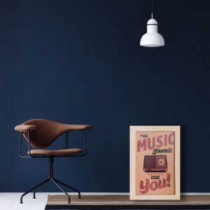 Music πασχαλινή αρωματική λαμπάδα με χειροποίητο πινακάκι 23x33 εκ