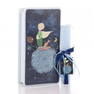 Μικρός Πρίγκιπας αρωματική πασχαλινή λαμπάδα και χειροποίητο διακοσμητικό κουτί 25x13x7 εκ