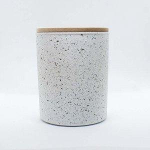 Κερί αρωματικό από σόγια σε γυάλινο βαζάκι ζωγραφισμένο στο χέρι με διακριτικό άρωμα βαμβακιού 9x8 εκ