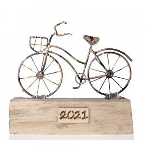 Χειροποίητο γούρι 2021 Ποδήλατο σε βάση 16x4x15 εκ