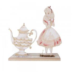 It's always tea time χειροποίητο γούρι 2021 με την Αλίκη 15x7x16 εκ