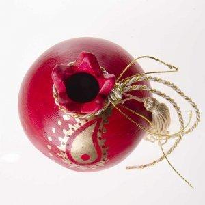 Κεραμικό γούρι ρόδι χειροποίητο σε κόκκινο χρώμα 9x10x9 εκ