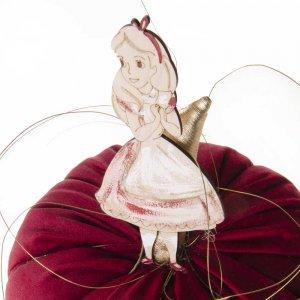 Γούρι λούτρινη κολοκύθα με την Αλίκη στη Χώρα των θαυμάτων 20x16x20 εκ