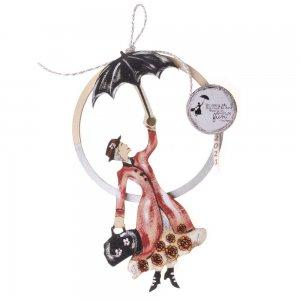 Κρεμαστό διακοσμητικό γούρι 2021 με την Mary Poppins 16x2x30 εκ