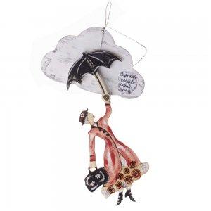 Γούρι Mary Poppins κρεμαστό με σύννεφο 13x3x30 εκ