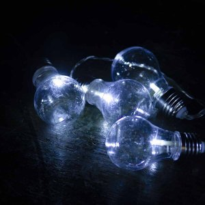 20 led αδιάβροχες vintage λάμπες IP44 με διάφανο καλώδιο και λευκό φως 4 μ