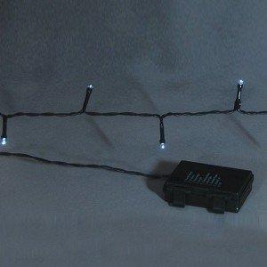 50 Led Μπαταρίας με 8 προγράμματα φωτισμού και χρονοδιακόπτη και λευκό ψυχρό φως 4 μ
