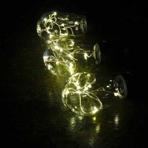 10 αδιάβροχες vintage λάμπες IP44 με 5 λαμπάκια led και επεκτεινόμενο μαύρο καλώδιο και θερμό φως 5 μ