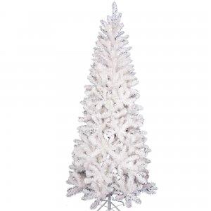 BonnPine  Χριστουγεννιάτικο δέντρο slim σε λευκό χρώμα με ύψος 210 εκ