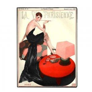 La vie Parisienne Χειροποίητο ξύλινο πινακάκι