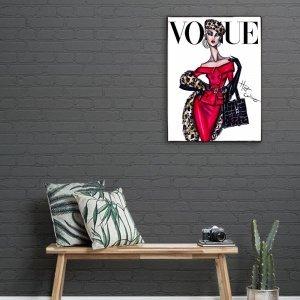 Εξώφυλλο περιοδικού μόδας  χειροποίητο ξύλινο πινακάκι