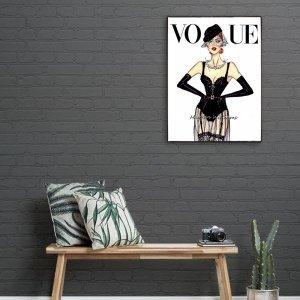 Χειροποίητο ξύλινο πινακάκι Εξώφυλλο περιοδικού μόδας