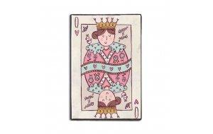 Queen of mums χειροποίητο ξύλινο πινακάκι με θέμα τη μητέρα 20x30 εκ