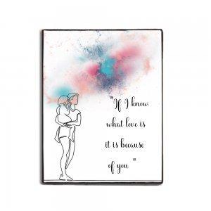 Διακοσμητικός χειροποίητος πίνακας με θέμα τη Μαμά