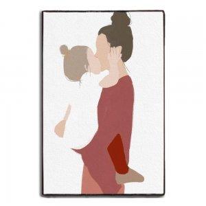Διακοσμητικό πινακάκι χειροποίητο Μητέρα και Κόρη 20x30 εκ