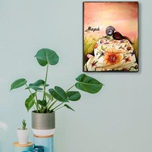 Διακοσμητικός χειροποίητος πίνακας με θέμα τη Μητέρα και την Κόρη
