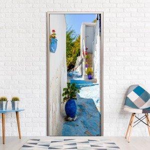 Φωτοταπετσαρία πόρτας - Blue Alley 70X210 εκ