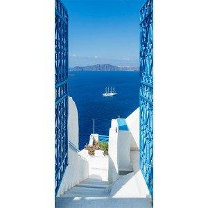 Φωτοταπετσαρία πόρτας - Holidays in Greece 70X210 εκ