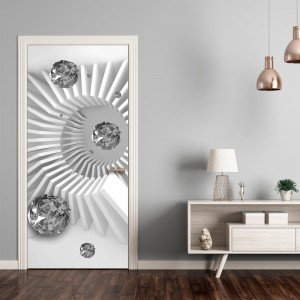 Φωτοταπετσαρία πόρτας - Photo wallpaper - Black and white abstraction I 70X210 εκ