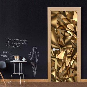 Φωτοταπετσαρία πόρτας - Photo wallpaper - Golden Geometry I 70X210 εκ