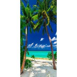 Φωτοταπετσαρία πόρτας - Photo wallpaper - Island, beach I 70X210 εκ