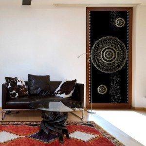Φωτοταπετσαρία πόρτας - Photo wallpaper - Pattern – circles I 70X210 εκ