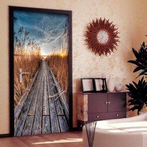 Φωτοταπετσαρία πόρτας - Photo wallpaper - Pier on the lake I 70X210 εκ