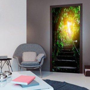Φωτοταπετσαρία πόρτας - Photo wallpaper - Stairs in the urban jungle I 70X210 εκ