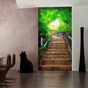 Φωτοταπετσαρία πόρτας - Photo wallpaper – Stairs from nature I 70X210 εκ