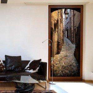 Φωτοταπετσαρία πόρτας - Stony City 70X210 εκ