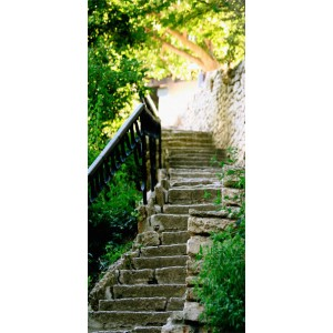 Φωτοταπετσαρία πόρτας - Stony Stairs 70X210 εκ