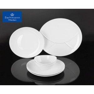 Meran πορσελάνινο μπωλ οβάλ λευκό σετ των δύο τεμαχίων 26x22x10 εκ