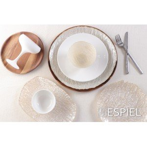 Coup fine dining πορσελάνινο βαθύ πιάτο στρογγυλό λευκό σετ των έξι τεμαχίων 20 εκ
