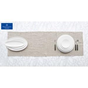 Coup fine dining πορσελάνινο πιάτο στρογγυλό λευκό σετ των τεσσάρων τεμαχίων 33 εκ