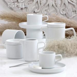 Good mood πορσελάνινο στρογγυλό πιατάκι του καφέ λευκό σετ των έξι τεμαχίων 16 εκ
