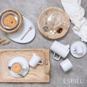 Good mood πορσελάνινο φλυτζάνι καφέ λευκό σετ των έξι τεμαχίων 7x11x9 εκ