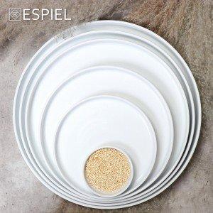 Good mood πορσελάνινο ρηχό πιάτο στρογγυλό step λευκό σετ των έξι τεμαχίων 21 εκ