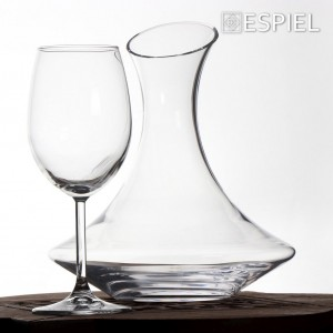 Σετ κρασιού πέντε τεμαχίων με καράφα και τέσσερα ποτήρια