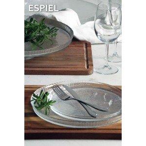 Lutra διάφανο στρογγυλό πιάτο σετ των έξι τεμαχίων 12 εκ