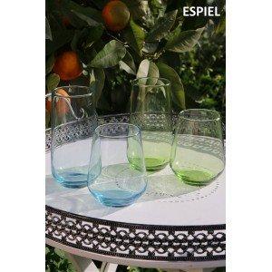 Allegra ποτήρι νερού σε πράσινο χρώμα σετ των έξι τεμαχίων 15 εκ