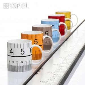 Κούπα με σχέδιο μεζούρα σε διάφορα χρώματα σετ των δώδεκα τεμαχίων 10 εκ