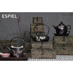 Tea for one τσαγιέρα μαζί με κούπα σε μαύρο χρώμα 17x12x14 εκ