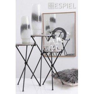 Καθρέπτης με ξύλινη κορνίζα και σχέδιο κύκλος στο εσωτερικό του 60x3x80 εκ