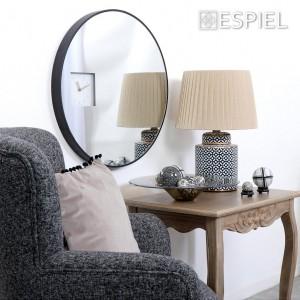 Minimal καθρέπτης με ρολόι στρογγυλός 60 εκ